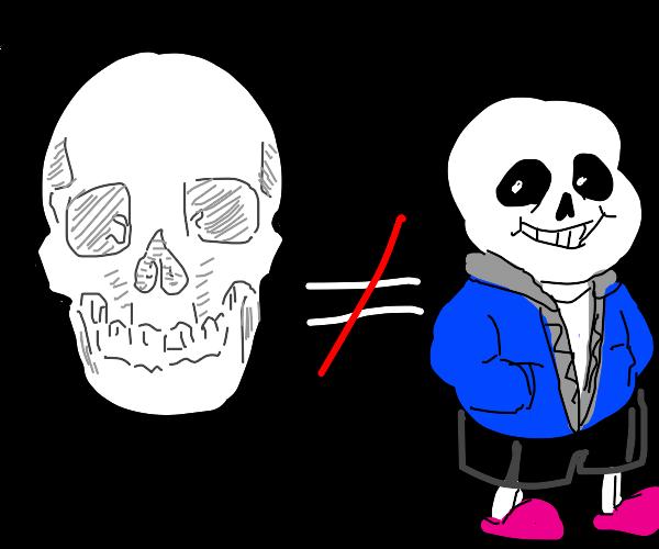 Skull doesn't means Sans