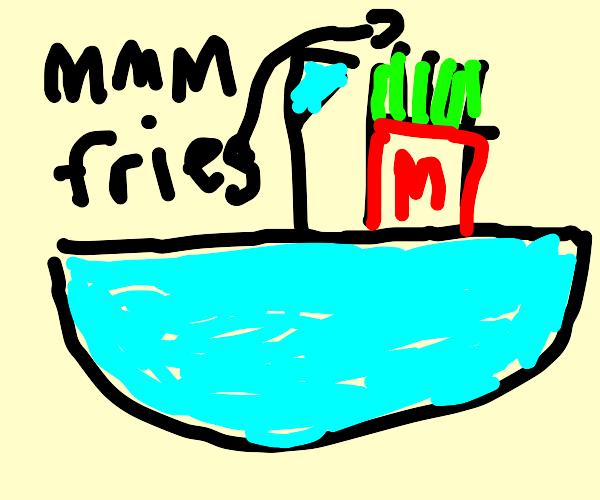 ship box full of fries