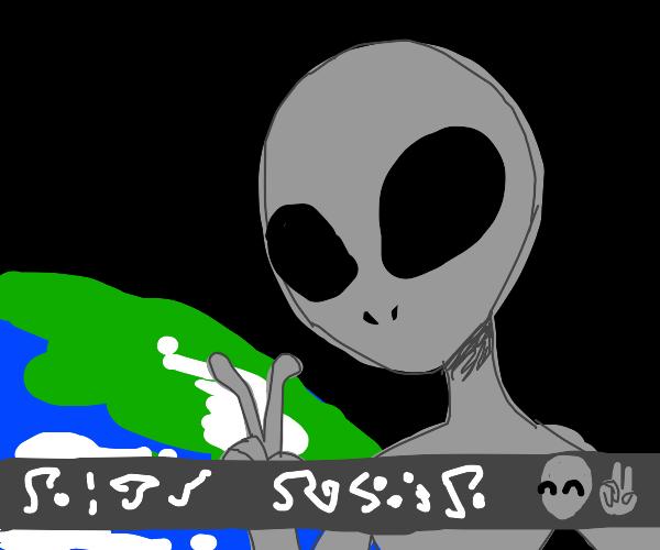 Alien selfie!
