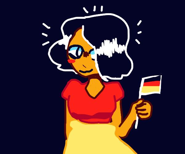 German flag waifu
