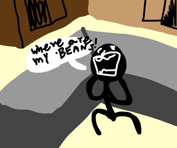 People searching for beans at 2am