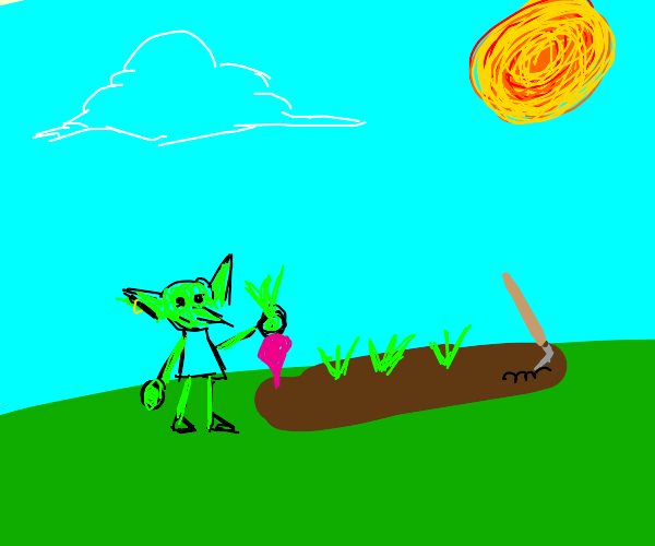 Goblin planting a Radish