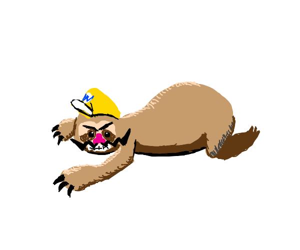 i turned myself into a sloth im sloth wario