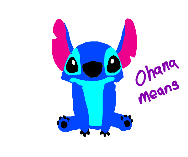 Stitch learns the true meaning of family