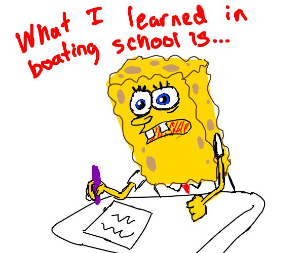 spongebob's famous unfinished essay