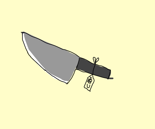 A hateful knife as a gift