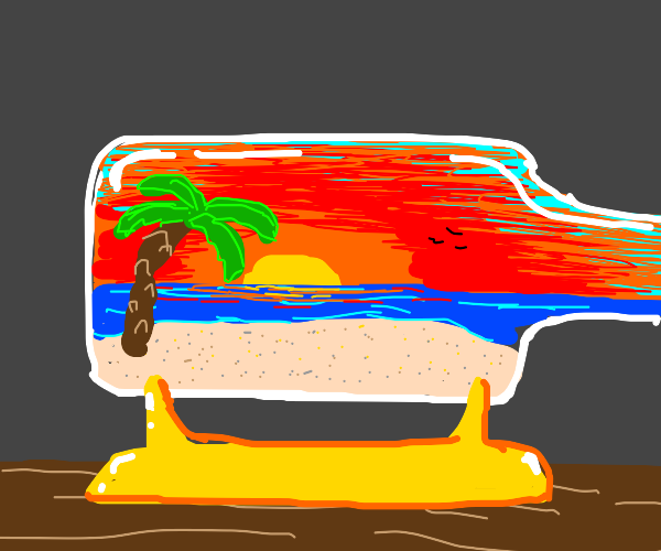 sunset paradise in a bottle