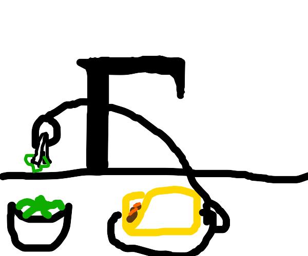 Gario (Cyrillic letter /ghe/) makes a taco