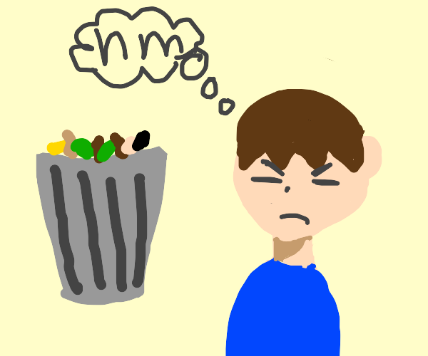 Man Thinks About Jumping Into a Pile of Trash