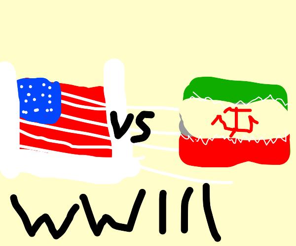 usa vs iran ww3