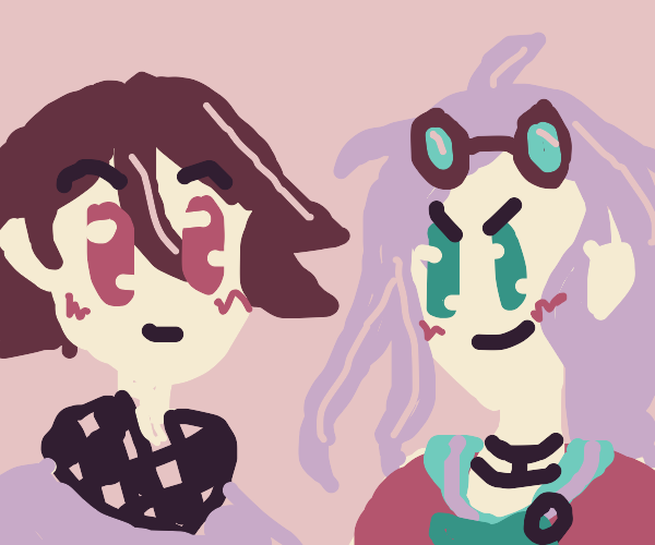 kokichi and miu from danganronpa