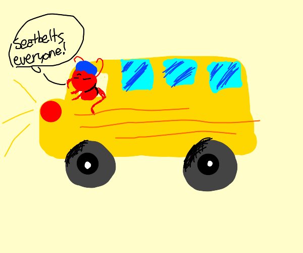 Fire ant driving school bus