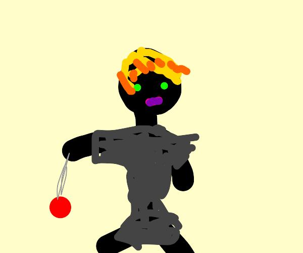 Man with yo-yo