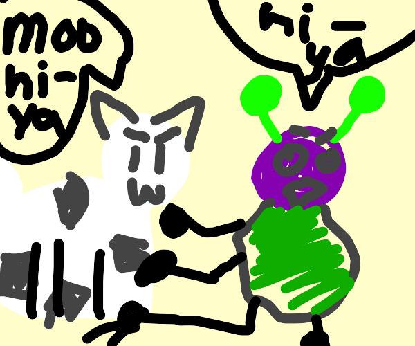 Cow vs. Aliens