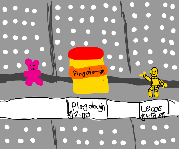 Pink Gummy Bear in a Toy Shop