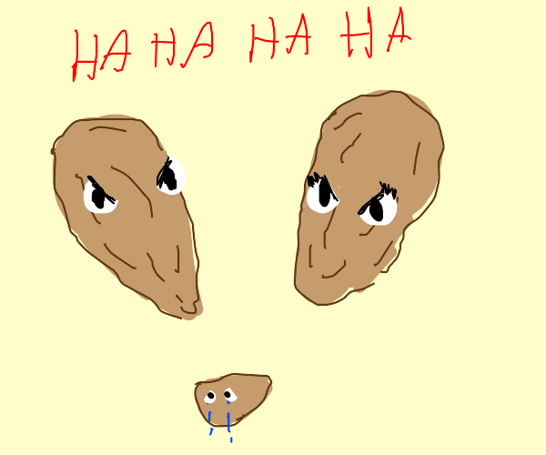 Almonds laugh at their child