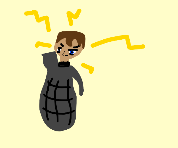 Electric grenade man