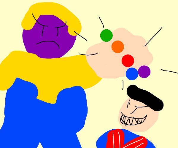 Thanos vs Robbie Rotten.