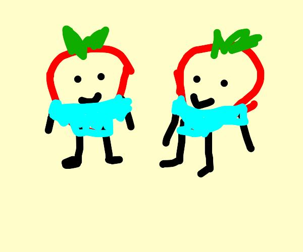 Strawberry twins