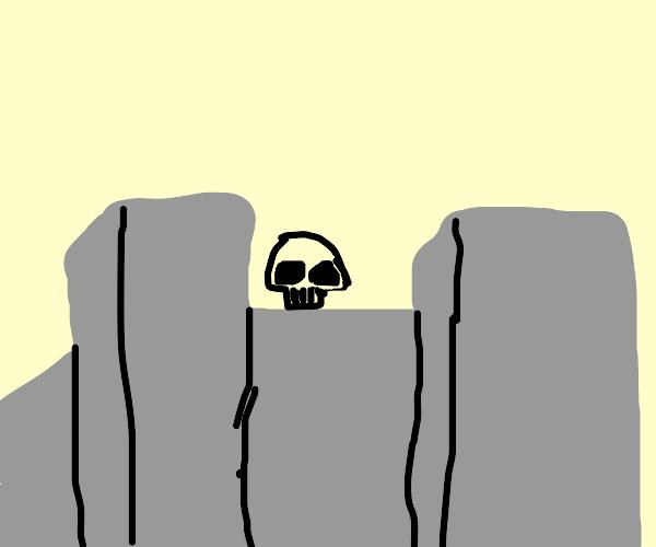 Skull in a Castle
