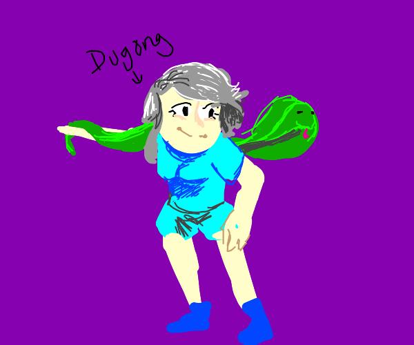 A woman named Dugong and a Green Cobra