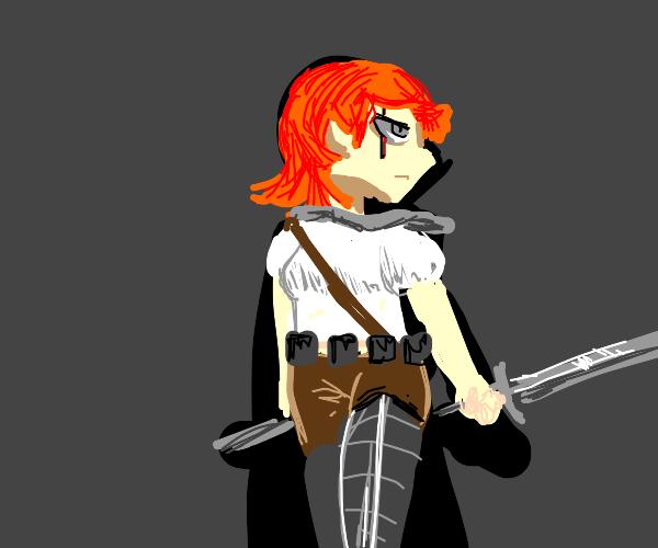 Redhead Witcher in the Dark