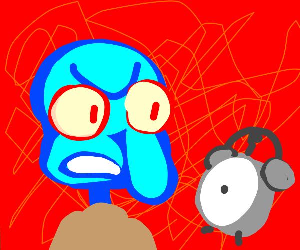 Squidward VS Clock, ultimate battle