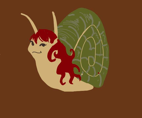 Redhead Snail