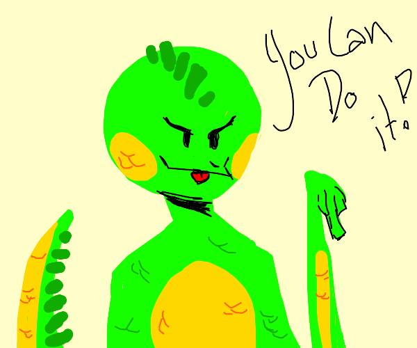 motivational lizard