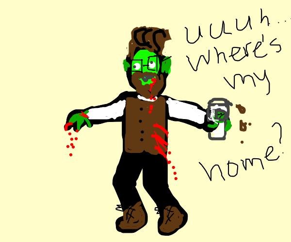 homeless trendy zombie