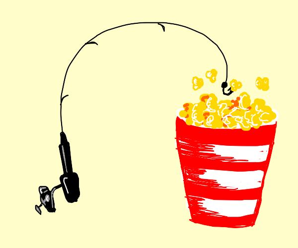 fishing for popcorn