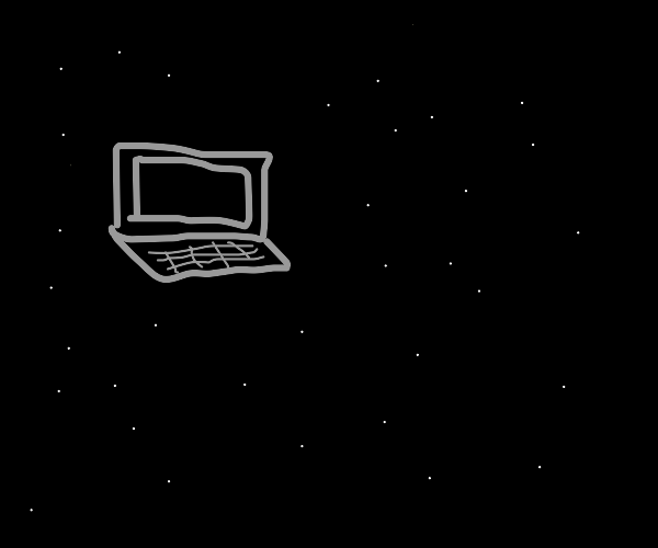 Laptop launched into space