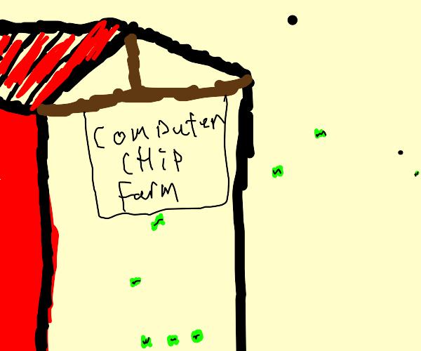 Computer chip farm