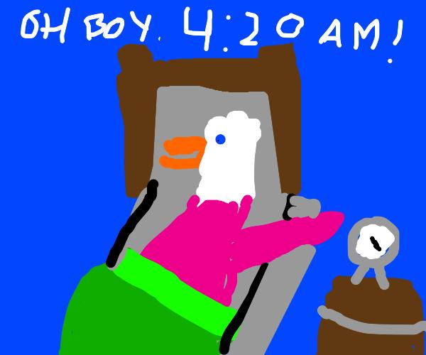Dolan Dark wakes up at 420 am