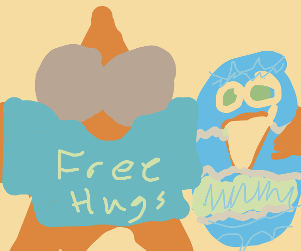 Starfish hugs egg