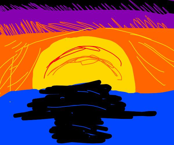 A romantic sunset ♡