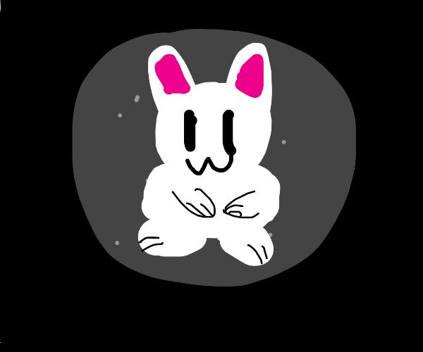 A rabbit stuck on the moon
