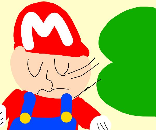 Mario sniffing luigi butt?
