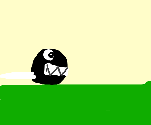 Chain chomp on grass
