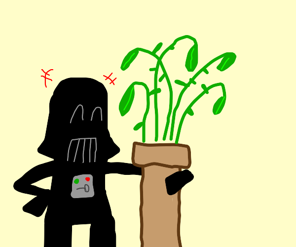 Darth Vader loves his plant