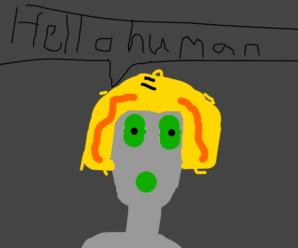 Cute alien girl