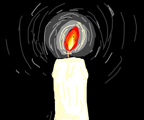 Single white candle