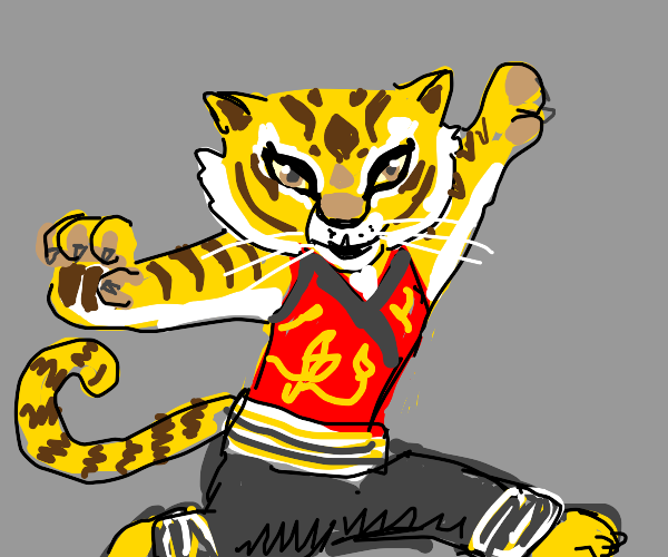 Strong Tiger Lady