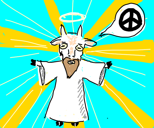 Goat Jesus asking for peace
