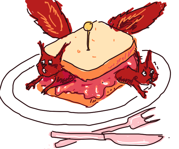 squirrels trapped in a jelly sandwich