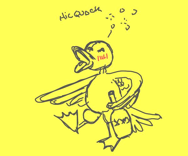 Drunk duck