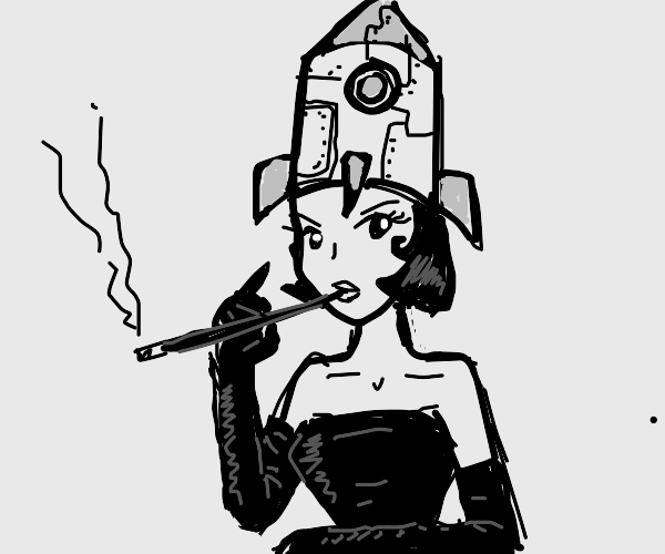 lady with a rocket hat