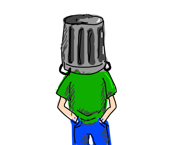 garbage can head