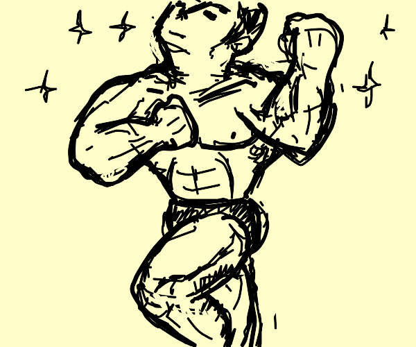 Big man with muscles