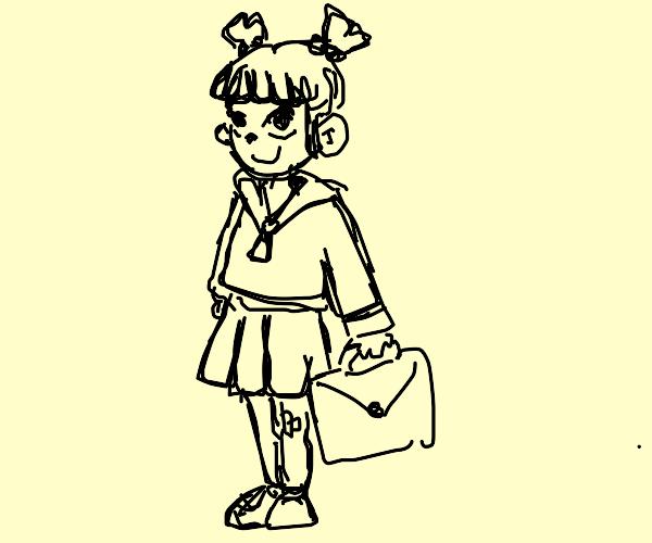pretty school girl